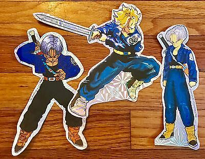 Dragon Ball Z DBZ TRUNKS Foil Holo Sticker Set UR *RARE* VINTAGE  AUTHENTIC