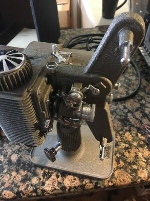 Revere Model 85 8mm Movie Film Projector Works with Case & Vintage Stag Film