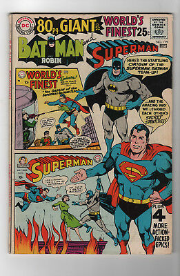 WORLDS FINEST #179-VG-Silver age-reprints key issues-Batman-Superman-b1318-006