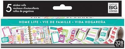 Mambi Create 365 Happy Planner Sticker Roll - Home Life 328 Stickers