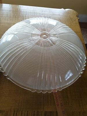 Vintage Art Deco Style  Holophane Huge Glass Ceiling Light Shade
