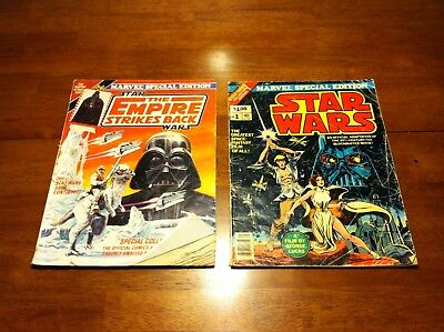 Marvel Special Edition Star Wars #1 (1977) and The Empire Strikes Back (1980)