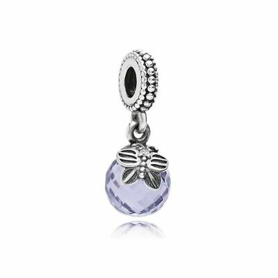 6e1020435 Authentic Pandora Morning Butterfly Lavender & Clear Brand New #791258Lcz  Dangel