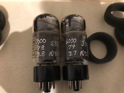 Matched Pair - NOS Gold Aero 7581A (6L6GC/KT66 similar) Very Rare Tubes/valve