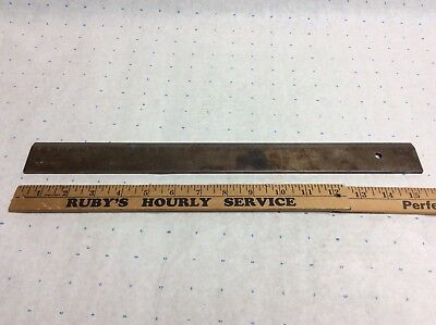 Antique Vtg Ultra RARE METAL Rule RULER Dutch tool science straight edge unique