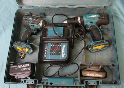 Makita 2 Piece Drill Combo W/ 2x Batteries & Charger 99 Cent No Reserve Auction