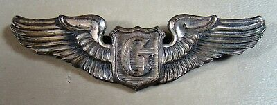 Wwii Aac Pilots Wings G Glider Sterling Long Pin Ww2 Full Sized Army Air Corps