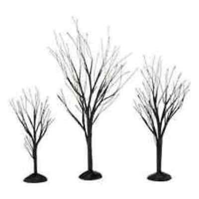 D56  Halloween Black Bare Branch Trees NIB  Free Shipping