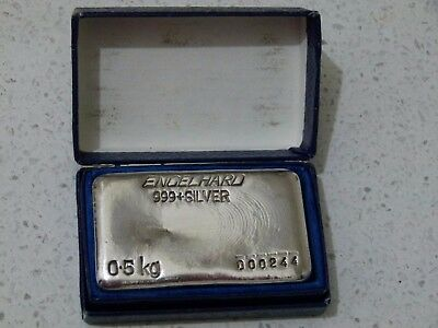 Engelhard 0.5kg Vintage Silver bar - Seldom seen - Less than 1,000 Released