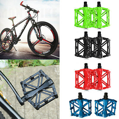 Pedals MTB BMX Mountain Bike Bicycle Cycle Aluminium Alloy Hollow Flat Platform