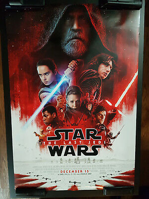 "/109 Star Wars VIII The Last Jedi Final Poster 27"" x 40"" D/S Double Sided Rare!"