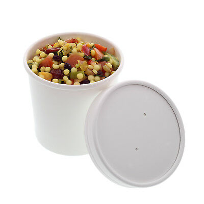 Royal 12 oz. White Paper Soup/Hot/Cold Food Container and Lid Combo, Pack of 250