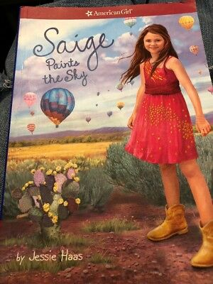 "New American Girl ""Saige Paints The Sky"" Paper Back Book"