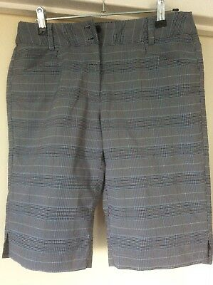 Callaway Golf  Ladies Shorts  Black Blue Grey Check   Great Cond  Size 4