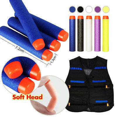 Gun Soft Refill Bullets Darts Vest Round Head Elite Blasters Nerf N-Strike Toy
