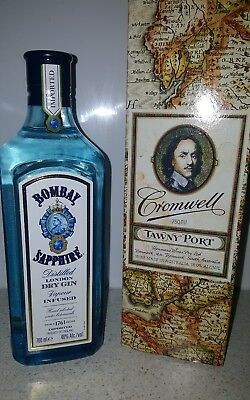 bombay sapphire gin + free port