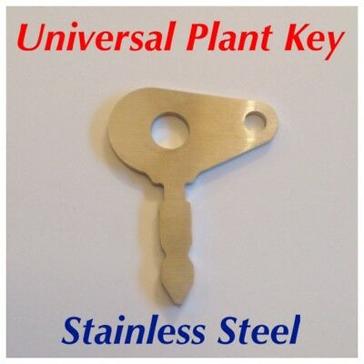 STAINLESS STEEL Universal Ignition Key for LUCAS 35670, JCB, Massey Ferguson