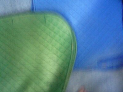 2 X saddle rugs 1x blue 1 X greensuitable for general use some frayingpreowned