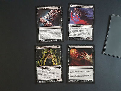 4 x Black 2009 Zendikar MTG Bulk Modern Cards Collection Legacy Set Magic Rares