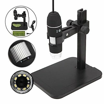 GVESS 1000X 8 LED 2MP USB stand Digital Microscope Magnifier dell'endoscopio