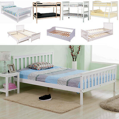 Terrific Solid Wooden Bed Frame Single Double King Triple Bunk Sofa Bralicious Painted Fabric Chair Ideas Braliciousco