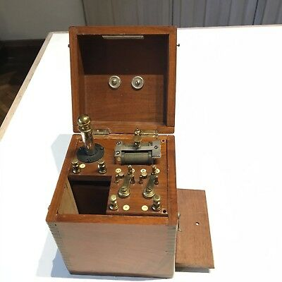 Antique Electro-Medical Apparatus early 20th century Mahogany Brass.