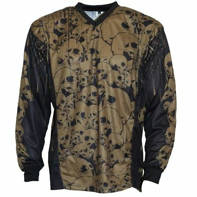 IDP Jersey The Skulls Oliv Paintball Trikot