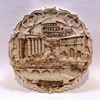 VE.MA Signed Roma Resin Souvenir Plaques Made in Italy