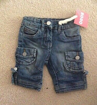 Ouch, Brand New With Tags!  Adorable Denim Shorts, Suit Girl Or Boy.  Sz 0