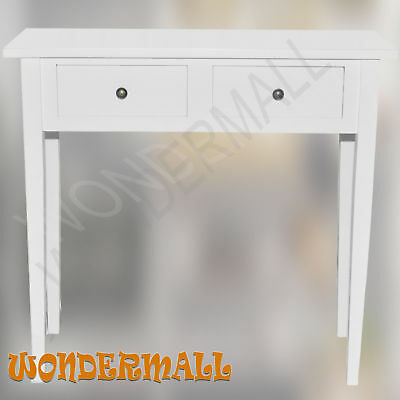 Console Hall Table Side Stand White Dressing 2 Drawers Entry Storage Display