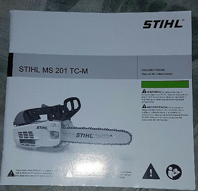 Stihl ms201t chainsaw owners manual brand new! $5. 99 | picclick.