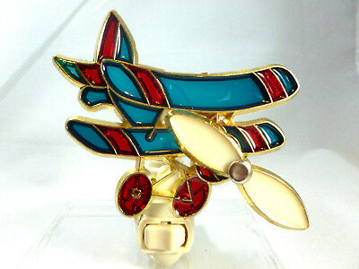 "Stain Glass Style - ""AIRPLANE""    NIGHT LIGHT"