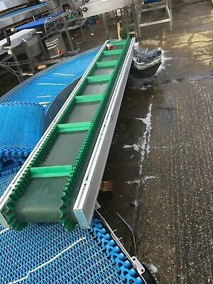 incline conveyor with side walls