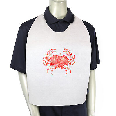 Royal 15'' x 30'' Paper Adult Tie-On Bibs with Crab Design, Case of 500