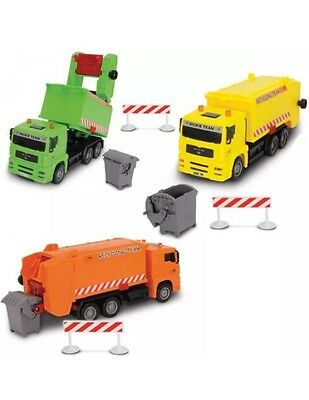 Spielauto Dickie City Cleaner Set Autos Recycling-Team Spielzeug