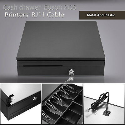 5Bill 5Coin Cash Drawer Box Works Compatible Epson Tray POS Printers Supermarket