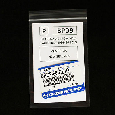 Genuine Mazda 2 Mazda 3 Mazda 6 CX-3 CX-5 Navigation SD Card BPD966EZ1G AUS / NZ