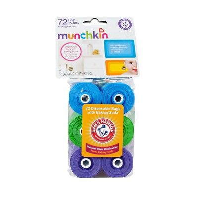 Munchkin Arm & Hammer diaper Bag Refills, 72-Count NEW & Sealed