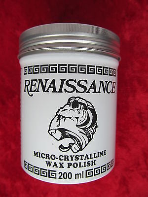 Renaissance Micro Crystalline wax polish - 200ml can. For use on Straight Razors