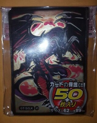 YUGIOH Card Sleeves Red Dragon Archfiend 50Pcs 62X89mm