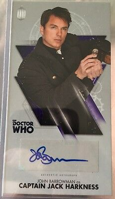 "Doctor Who Autograph Card John Barrowman ""Captain Jack"" TOPPS"