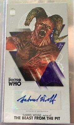 DOCTOR WHO AUTOGRAPH CARD The Beast Woolf Topps