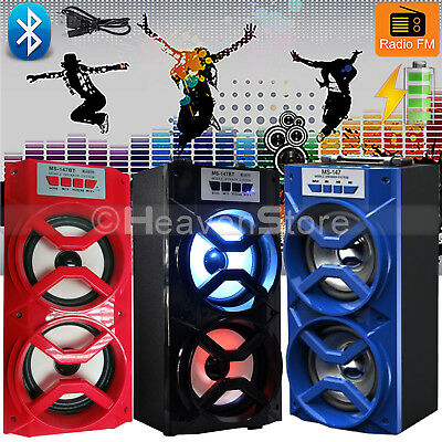 WIRELESS BLUETOOTH OUTDOOR PORTABLE SPEAKER SUPER BASS STEREO w/ USB/TF/FM RADIO