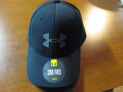 """Under Armour (Youth) """"heat Gear"""" Performance Flex Fit Hat (Sm/md Youth) Black"""
