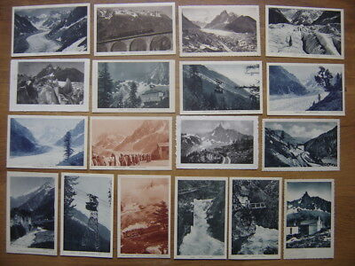 CP Lot cartes postales Postcards MONTAGNE ALPES TELEPHERIQUE CASCADE TRAIN