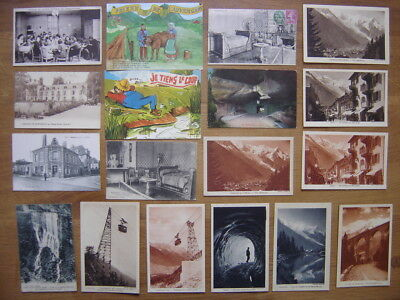 CP Lot cartes postales Postcards MONTAGNE ALPES TELEPHERIQUE HUMOUR PONT