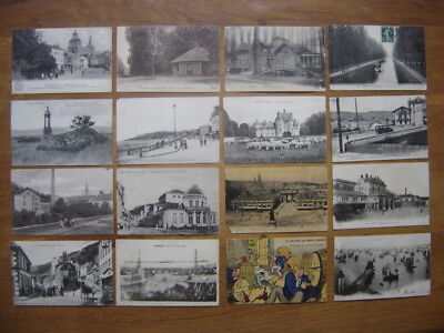 CP Lot cartes postales Postcards PAYSAGES ANIMEES AUTOMOBILE
