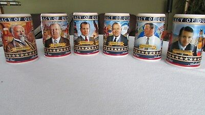 "Budweiser ""A LEGACY OF QUALITY"" complete set of 6 Busch Family Beer Stein Series"
