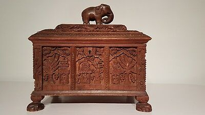 Antique Indian Large Carved Box