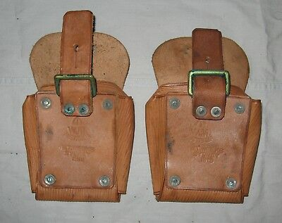 Pair Pattern 1903 Pockets Cartridge 15 Rd unissued. Leather pouch Light Horse
